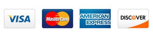 we accept visa discover amex master card